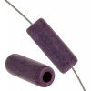 Ceramic Bead Cylinder 17x5mm Purple